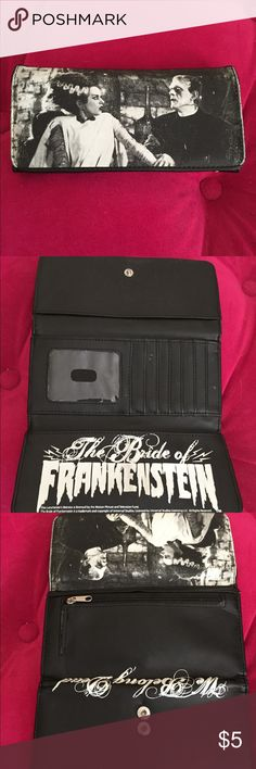 Bride of Frankenstein wallet Bride of Frankenstein wallet in great condition! Bags Wallets