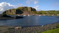 Ellenabeich, Isle of Seil from the harbour at Easdale Island, Argyll, Scotland.