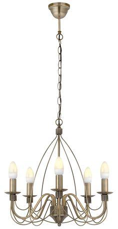 Vas Birdcage 5 Lamp Pendant Ceiling Light Living Room