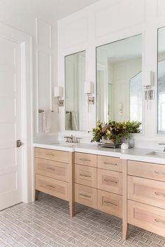 The SMI Inland Coastal: Master Bathroom Reveal - Sita Montgomery Interiors Bathroom Vanity Designs, Master Bathroom Vanity, Small Bathroom Vanities, Modern Master Bathroom, Transitional Bathroom, Bathroom Renos, Bathroom Interior Design, Bathroom Renovations, Decor Interior Design