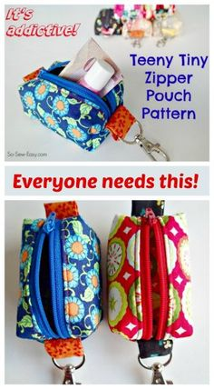 Teeny Tiny Zipper Pouches -free pattern!