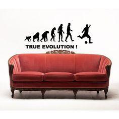 Soccer Evolution Sticker Vinyl Wall Art