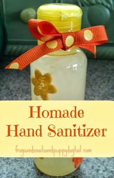 Homemade Hand Sanitizer Recipe 1c pure aloe vera gel, 1-2 tsp witch hazel, 1/4 tsp pine and lavender essential oils(this combo is what makes it sanitize).  If you are not a nursing mother or pregnant you can use tee tree oil.