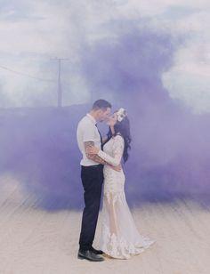 colourful smoke bomb