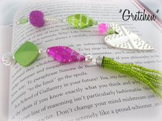 Designer Beaded Bookmark  Gretchen by SassyBookBling on Etsy, $19.00