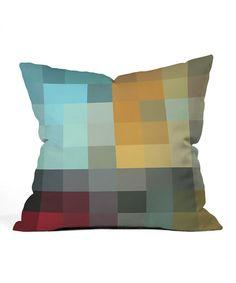 Green & Blue Refreshing Outdoor Throw Pillow