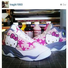 Hello Kitty J's <3 -- seriously bet I could get my little girl to wear some Jordan's if she had these!