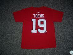 Jonathan Toews Chicago Blackhawks NHL Reebok Name & Number Shirt-Youth L (USED) #ChicagoBlackhawks