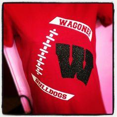 football custom shirt team shirt school spirit football mom shirt. $25.00, via Etsy.