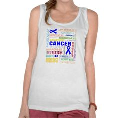 Colon Cancer Awareness Collage Tshirt by www.Giftsforawareness.com