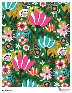 French Gardens pattern by helen dardik