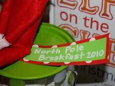 North Pole Breakfast to introduce the Elf on the Shelf:)