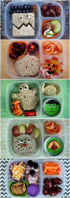 sweet and lovely crafts: fall & halloween lunches part 2