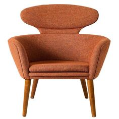 Unusual, Anonymous Danish Lounge Chair in Teak and upholstery ca.1950's
