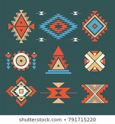 Native American Patterns, Native American Symbols, Native American Beadwork, Motif Navajo, Navajo Pattern, Pattern Drawing, Pattern Art, Pattern Design, Arte Tribal