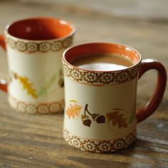 temp-tations® Old World Set of Two 16-oz. Mugs in Harvest :: temp-tations® by Tara