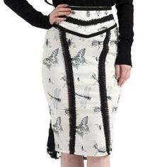 antique_insect_pencil_skirt