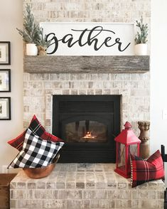 35 Farmhouse Decor With a sign above the fireplace - Home Professional Decoration Sweet Home, Fireplace Design, Fireplace Ideas, Fireplace Decorations, Above Fireplace Decor, Rustic Fireplace Decor, Fireplace Modern, Fireplace Remodel, Mantles Decor