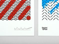London-based design agency Dalziel&Pow launches their new identity | #Design #Brand #Identity #Colour #Typography #Pattern