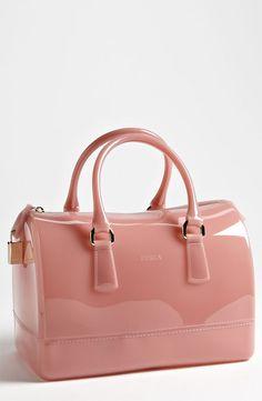 c199ec90410 Furla Candy Rubber Satchel in Pink (cosmopolitan rose)