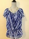 Calvin Klein Blue Sheer Tie Top w/ Tank Size Small Free Shipping Layered Shirt S