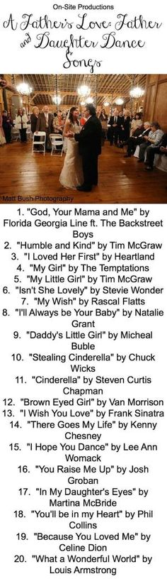 The perfect playlist for the Father & Daughter Dance has the perfect mix of modern and classic song to choose from! I'm going to dance to #1 with my Dad! Plus the link to the playlist is on the blog! by lela