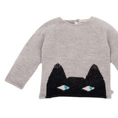 Oeuf be good - cat sweater  #moda-infantil