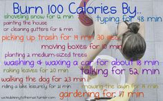 Burn 100 Calories By...