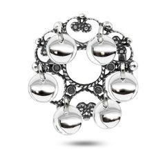 Sølje, oksidert m/løv   Dåpsgaver og smykker   Pia&Per nettbutikk