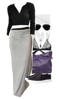 """""""Derek Inspired Outfit with Requested Skirt"""" by veterization ❤ liked on Polyvore featuring Yves Saint Laurent, Topshop, Calvin Klein, JAY. M, UNIF and H&M"""