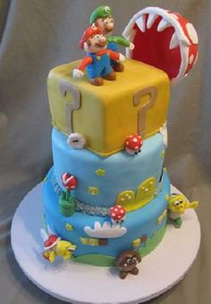 Jonas would love this cake! Cute Cakes, Pretty Cakes, Fancy Cakes, Beautiful Cakes, Amazing Cakes, Crazy Cakes, Sweet Cakes, Love Cake, Luigi Cake