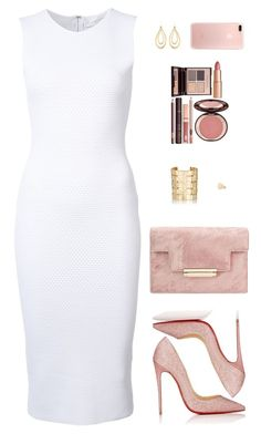 A fashion look from February 2017 featuring white dress, red sole pumps and handbags clutches. Browse and shop related looks. Business Chic, Business Outfits, Chic Outfits, Fashion Outfits, Womens Fashion, Date Night Outfit Curvy, Glitter Heels, Glitter Lipstick, Pink Glitter