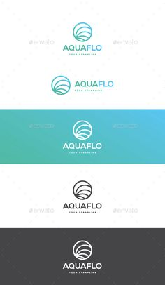 Aquaflo Logo  #wave #circular • Click here to download ! http://graphicriver.net/item/aquaflo-logo/14573306?ref=pxcr