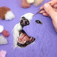 Fibre artist Dani Ives describes her use of needle felting as 'painting with wool' (via Colossal)