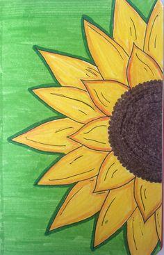 Printable sunflower shooting target for ladies women. Pencil Art Drawings, Art Drawings Sketches, Disney Drawings, Easy Drawings, Simple Canvas Paintings, Easy Canvas Painting, Diy Canvas Art, Doodles, Journal