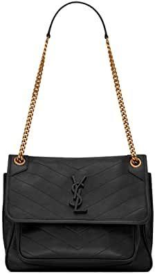 Saint Laurent Women'S Niki Medium Black Lambskin Shoulder Bag Crossbody Bag Saint Laurent Handbags, Saints, Crossbody Bag, Shoulder Bag, Medium, Stuff To Buy, Black, Fashion, Moda