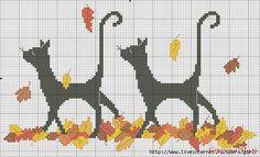Patterns for Children - crochet/knitting/ embroidery, etc Fall Cross Stitch, Cross Stitch Animals, Cross Stitch Charts, Cross Stitch Designs, Cross Stitch Patterns, Cross Stitching, Cross Stitch Embroidery, Embroidery Patterns, Halloween Cross Stitches