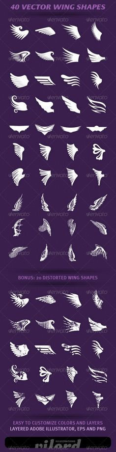 40 Wing Shapes - graphicriver.net/item/40-wing-shapes/1976862?ref=cruzine