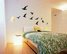 Flock of Birds Wall Stickers, Zazous. Small Master Bedroom, Kids Bedroom Sets, Home Bedroom, Bedroom Wall, Bedroom Decor, Bedrooms, Bedroom Ideas, Blue Wall Stickers, Wall Decal Sticker