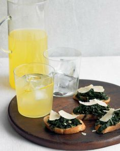 Crostini with Kale and Parmesan Recipe