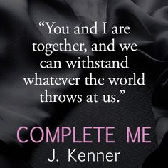 A Facebook Exclusive #StarkOnSunday – an Excerpt from Stark Trilogy book 3, Complete Me