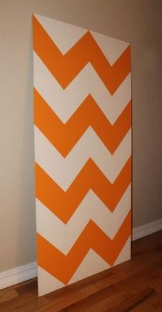 DIY Chevron      : DIY Chevron Wall Art