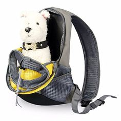 Markham123 Pet Dog Cat Puppy Carriers Bags Portable Mesh Comfort Travel Tote Shoulder Bag Breathable Puppy Pets Backpack Knapsack Packsack S Yellow >>> Visit the image link more details.