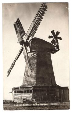 Vintage Real Photo Post Card Dutch Mill Reamsville KS Working Windmill | eBay