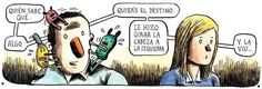 Liniers Love Destiny, Humor Grafico, Weird, My Love, Memes, Illustration, Funny, Quotes, Grande