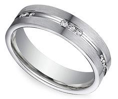 Diamond Eternity Men's Wedding Ring in Palladium