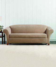 Brown Clay Stretch Pearson Sofa Slipcover