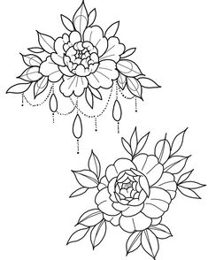 Best ideas for embroidery riscos letras Flower Henna, Flower Tattoos, Flower Art, Embroidery Leaf, Hand Embroidery Designs, Tattoo Sketches, Tattoo Drawings, Traditional Tattoo Flowers, Floral Drawing