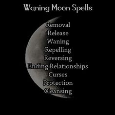 "wood-fires: "" What Types of Spell Work To Do By: Moon Phase "" Much as I'm not thrilled by the ""dark"" and ""light"" references, this is a pretty accurate reflection of the lunar magic cycle that I use in..."