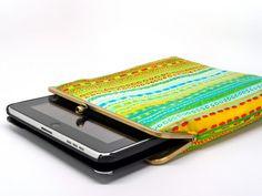 Emerald dreams iPad sleeve with metal kisslock clutch by misala, $44.90